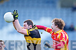 Daithi Casey, Dr. Crokes in action against Ray O'Malley, in the All Ireland Senior Club Semi Final at Portlaoise on Saturday.