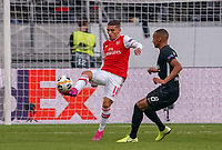 Lucas Torreira (Arsenal London) gegen Djibril Sow (Eintracht Frankfurt) - 19.09.2019:  Eintracht Frankfurt vs. Arsenal London, UEFA Europa League, Gruppenphase, Commerzbank Arena<br /> DISCLAIMER: DFL regulations prohibit any use of photographs as image sequences and/or quasi-video.