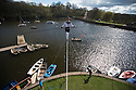 29/04/16 <br /> <br /> Fearless tightrope walker Christopher Bullzini, recreates the daring 100 ft high wire walk, without safety harness or nets, which was originally performed by Carlos Trower, &quot;The African Blondin&quot; at Rudyard Lake, near Leek, in Staffordshire, in 1864 and 1878 as  part  of a weekend family event A Day at the Lake.<br /> <br /> Carlos was a nineteenth century showman whose incredible tight rope performances matched the private life he led as a well-paid and well-known black performer and an unconfirmed bigamist husband of two English ladies.   <br /> <br /> He died penniless in a lunatic asylum of syphilis leaving a destitute wife with three children. <br /> <br /> Christopher, 38, will be performing the spectacular recreation of the tightrope walk over the bank holiday weekend as part of the A Day At The Lake event being held on Saturday, Sunday, and Monday, with Sunday being Staffordshire Day and 2016 also being the 20th anniversary of the formation of the Rudyard Lake Trust.<br /> <br /> He said that recreating this walk will be one of the most exciting moments in his career.<br /> <br /> &ldquo;People have an enduring fascination with tightrope walking, which is much safer now with rigging and digital laser technology, but still an incredible physical feat,&rdquo; he said.<br /> <br /> &ldquo;I hope that big public events like this will help to see a resurgence in the interest of telling stories through tightrope walking and circus as a respected performing art form along with theatre, opera, dance as it is elsewhere in the world, in particular France, Canada and Belgium.&rdquo;<br /> <br /> More information<br /> <br /> The tightrope walk will be recreated at 2pm and 7pm daily over the weekend with numerous other family-friendly attractions at the lake. Further information is available online at www.dayatthelake.org.uk<br /> <br /> <br /> All Rights Reserved: F Stop Press Ltd. +44(0)1335 418365   +44 (0)7765 242650 www.fstoppress.com