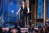 Geena Davis and Susan Sarandon present during the 75th Annual Golden Globe Awards at the Beverly Hilton in Beverly Hills, CA on Sunday, January 7, 2018.<br /> *Editorial Use Only*<br /> CAP/PLF/HFPA<br /> &copy;HFPA/PLF/Capital Pictures