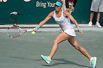 Lucie Hradecka (CZE) defeats Sara Errani (ITA) 6-2, 6-4 at the Family Circle Cup in Charleston, South Carolina on April 10, 2015.