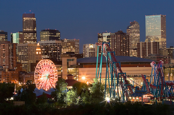 Skyline and amusement park, Denver, Colorado. John offers private photo tours of Denver, Boulder and Rocky Mountain National Park. .  John offers private photo tours in Denver, Boulder and throughout Colorado. Year-round Colorado photo tours. .  John offers private photo tours in Denver, Boulder and throughout Colorado. Year-round.