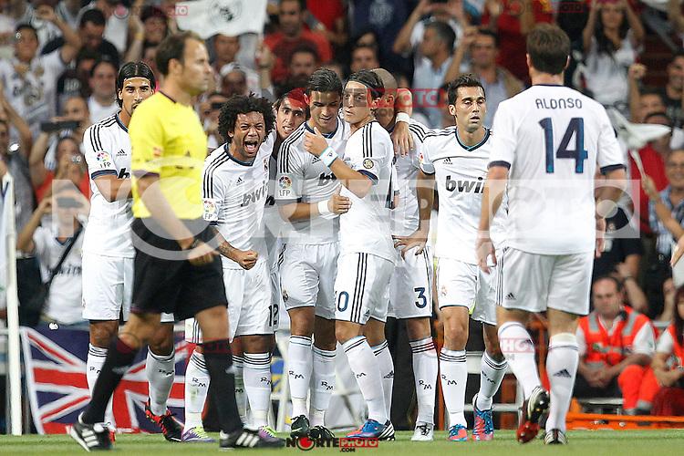 Real Madrid's Cristiano Ronaldo goal during Spanish Supercup 2nd match on august 29 2012...Photo: Cesar Cebolla / ALFAQUI /NortePhoto.com<br /> <br /> **CREDITO*OBLIGATORIO** <br /> *No*Venta*A*Terceros*<br /> *No*Sale*So*third*<br /> *** No*Se*Permite*Hacer*Archivo**<br /> *No*Sale*So*third*
