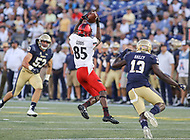 Annapolis, MD - September 23, 2017: Cincinnati Bearcats wide receiver Thomas Geddis (85) makes a catch during the game between Cincinnati and Navy at  Navy-Marine Corps Memorial Stadium in Annapolis, MD.   (Photo by Elliott Brown/Media Images International)