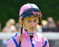 Jockey David Egan during Horse Racing at Salisbury Racecourse on 15th August 2019