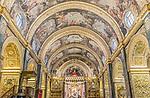Europe, Malta, Valletta, St. John's Co-Cathedral Interior