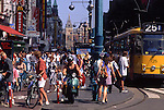 Europe, NLD, Netherlands, Provinz North Holland, Amsterdam, Road traffic at the Damrak....[ For each utilisation of my images my General Terms and Conditions are mandatory. Usage only against use message and proof. Download of my General Terms and Conditions under http://www.image-box.com or ask for sending. A clearance before usage is necessary...Material is subject to royalties. Each utilisation of my images is subject to a fee in accordance to the present valid MFM-List...Contact | archive@image-box.com | www.image-box.com ]