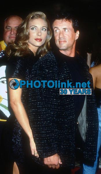 Jennifer Flavin, Sylvester Stallone, 1994, Photo By Michael Ferguson/PHOTOlink