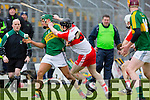 in Action Kerry's Adrian Royle and Derry's Conor Quinn  Allianz Hurling League Kerry Vs Derry at Austin Stack Park on Sunday
