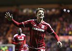 Gaston Ramirez of Middlesbrough celebrating after scoring his second goal of the game - Sky Bet Championship - Middlesbrough vs Wolverhampton Wanderers - Riverside Stadium - Middlesbrough - England - 4th of March 2016 - Picture Jamie Tyerman/Sportimage