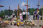 Christian Roma attending a funeral. Tarnow, Poland 2002