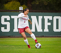 STANFORD, CA - November 23, 2018: Michelle Xiao at Laird Q. Cagan Stadium. The top seeded Stanford Cardinal defeated the Tennessee Volunteers 2-0 in the Quarterfinal of the NCAA tournament.