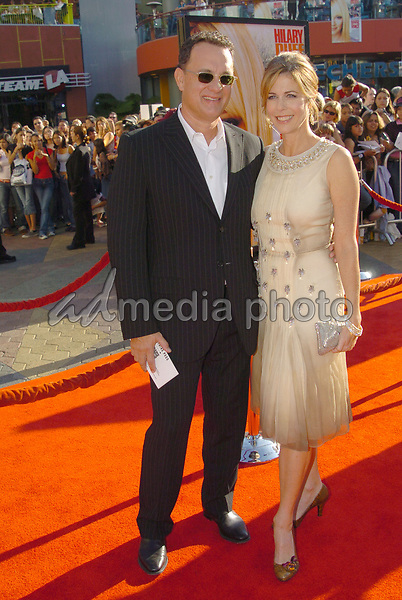 03 October 2004- Universal City, CA -  Rita Wilson and Tom Hanks at 'Raise Your Voice' Los Angeles Premiere held at Lowes Universal City 18 Theatre. Photo Credit: V. Summers/AdMedia