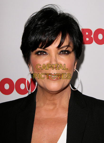 KRIS JENNER .at REDBOOK's first-ever family issue celebration held at The Sunset Tower Hotel in West Hollywood, California, USA, April 11th 2011..portrait headshot black  hoop earrings smiling      eyeliner make-up                                                .CAP/RKE/DVS.©DVS/RockinExposures/Capital Pictures.