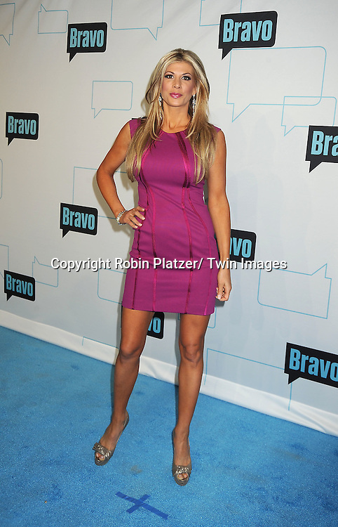Real Housewives of Orange County, Alexis Bellino attends the Bravo Upfront on April 4, 2012 at 548 West 22nd Street in New York City.
