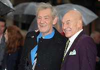 Patrick Stewart and Sir Ian McKellen arriving the UK Premiere of 'X-Men: Days of Future Past' at Odeon Leicester Square, London. 12/05/2014 Picture by: Alexandra Glen / Featureflash