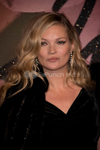 Kate Moss<br /> The Fashion Awards 2016 , arrivals at the Royal Albert Hall, London, England on December 05 2016.<br /> CAP/PL<br /> ©Phil Loftus/Capital Pictures /MediaPunch ***NORTH AND SOUTH AMERICAS ONLY***