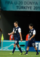 USA's Luis Gil (L) and Daniel Garcia (R) during their FIFA U-20 World Cup Turkey 2013 Group Stage Group A soccer match Ghana betwen USA at the Kadir Has stadium in Kayseri on June 27, 2013. Photo by Aykut AKICI/isiphotos.com