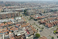 BOGOTA, COLOMBIA - March 23  Aerial view of an empty Bogota street on March 23, 2020. Colombian government declared a nationwide quarantine from March 24 until April 13 to prevent the spread of the Coronavirus that has 306 confirmed cases in the country at the moment. (Photo by Daniel Munoz/VIEWpress via Getty Images)