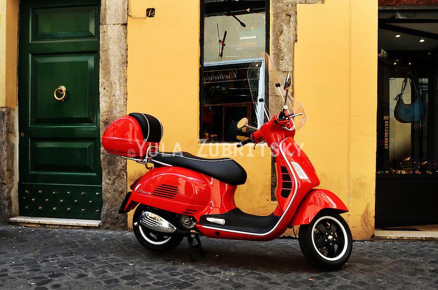Rome-Editorial, red vespa
