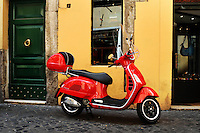 Rome-Editorial, red vespa