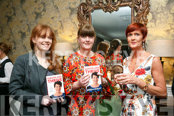 At the Breeda Hurley Book launch Survive and Thrive: The Journey of a Lifetime at the Rose Hotel on Friday were Alannah O'Connor, Margo O'Connor and Christine Hurley