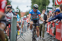 World Champion Peter Sagan (SVK/Bora Hansgrohe) in the points jersey on his way to the start<br /> <br /> <br /> Binckbank Tour 2017 (UCI World Tour)<br /> Stage 7: Essen (BE) &gt; Geraardsbergen (BE) 191km