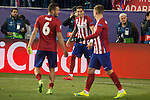 Atletico de Madrid's Koke Resurrecccion (L), Jose Maria Gimenez (C) and Antoine Griezmann during UEFA Champions League match. March 15,2016. (ALTERPHOTOS/Borja B.Hojas)