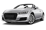 Stock pictures of low aggressive front three quarter view of 2016 Audi TT-Roadster - 2 Door Convertible Low Aggressive