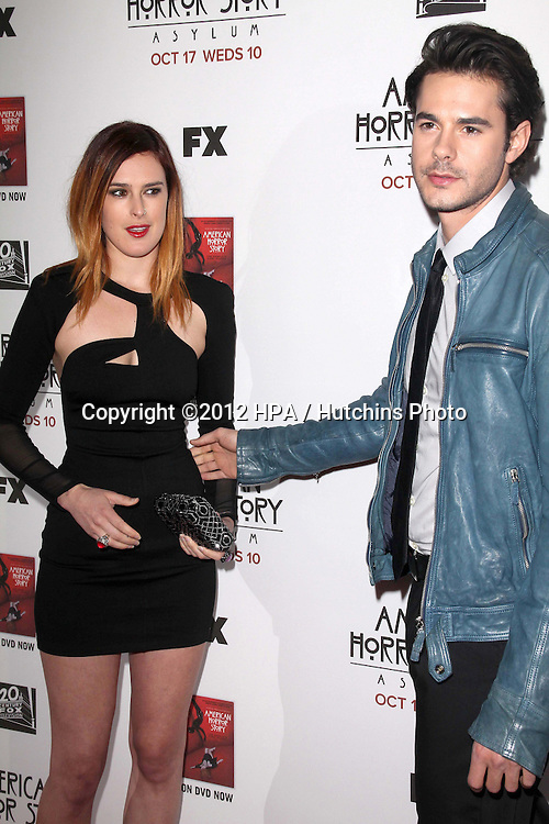 """LOS ANGELES - OCT 13:  Rumer Willis, Jayson Blair arrives at the """"American Horror Story: Asylum"""" Premiere Screening at Paramount Theater on October 13, 2012 in Los Angeles, CA"""