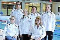 ZWEMMEN: HEERENVEEN: 01-11-2014, SportStad, NK parazwemmen, v.l.n.r. DAPHNE VAN DEN BROEK, SANNE MELISSA HOVING, RIXT VAN DER HORST, achter: KASPER STROES, ALYDA NORBRUIS, TRISTAN BANGMA, ©foto Martin de Jong