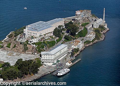 aerial photograph Alcatraz island San Francisco