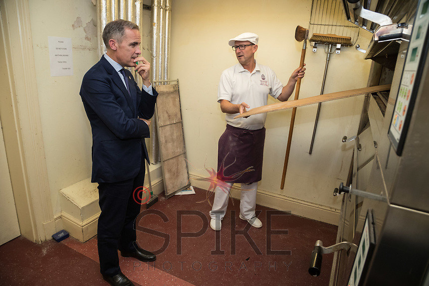 Mark Carney, Governor of the Bank of England with Wayne Caddy, Head of Baking at the School of Artisan Food