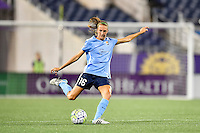 Orlando, FL - Saturday September 10, 2016: Sarah Killion during a regular season National Women's Soccer League (NWSL) match between the Orlando Pride and Sky Blue FC at Camping World Stadium.