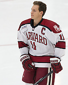 Kyle Criscuolo (Harvard - 11) - The Harvard University Crimson tied the visiting Dartmouth College Big Green 3-3 in both team's first game of the season on Saturday, November 1, 2014, at Bright-Landry Hockey Center in Cambridge, Massachusetts.