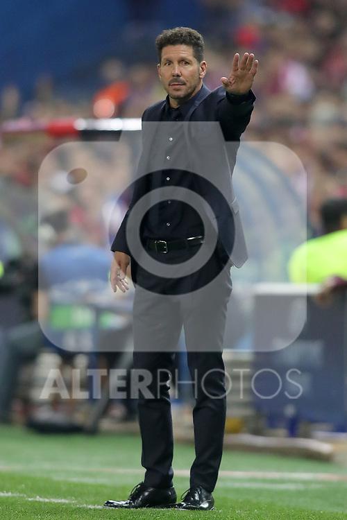 Atletico de Madrid's coach Diego Pablo Cholo Simeone during Champions League 2016/2017 Quarter-finals 1st leg match. April 12,2017. (ALTERPHOTOS/Acero)