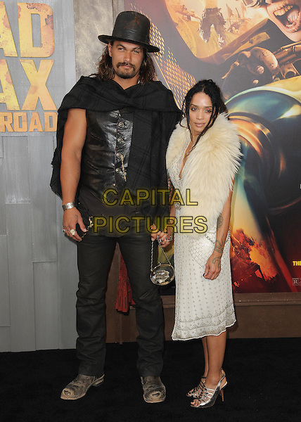 HOLLYWOOD, CA - MAY 7:  Jason Momoa and Lisa Bonet at the Los Angeles premiere of &quot;Mad Max: Fury Road&quot; at the TCL Chinese Theatre on May 7, 2015 in Hollywood, California. <br /> CAP/MPI/PGSK<br /> &copy;PGSK/MediaPunch/Capital Pictures