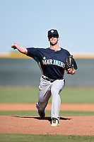 Seattle Mariners pitcher Rohn Pierce (38) during an Instructional League game against the Cleveland Indians on October 1, 2014 at Goodyear Training Complex in Goodyear, Arizona.  (Mike Janes/Four Seam Images)