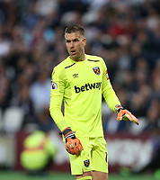 West Ham United's Adrian<br /> <br /> Photographer Rob Newell/CameraSport<br /> <br /> The Premier League - West Ham United v Manchester United - Thursday 10th May 2018 - London Stadium - London<br /> <br /> World Copyright &copy; 2018 CameraSport. All rights reserved. 43 Linden Ave. Countesthorpe. Leicester. England. LE8 5PG - Tel: +44 (0) 116 277 4147 - admin@camerasport.com - www.camerasport.com