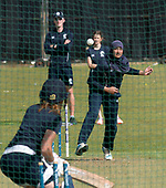 This image is FREE to use (first use only) courtesy of Cricket Scotland - 2018 T20 Women's World Cup – Europe/Americas Qualifier, to be played at Stirling County CC, Scotland, this week (14th and19th August 2017 - picture shows Scotland bowler Abtaha Maqsood bowling during training at Stirling ahead of tomorrow's (Mon 14th) double header against USA (10am and 2.30pm) - picture by Donald MacLeod - 13.08.2017 - 07702 319 738 - clanmacleod@btinternet.com - www.donald-macleod.com