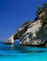 Italy, Sardinia, Cala Goloritze at Golfo di Orosei - rock formation