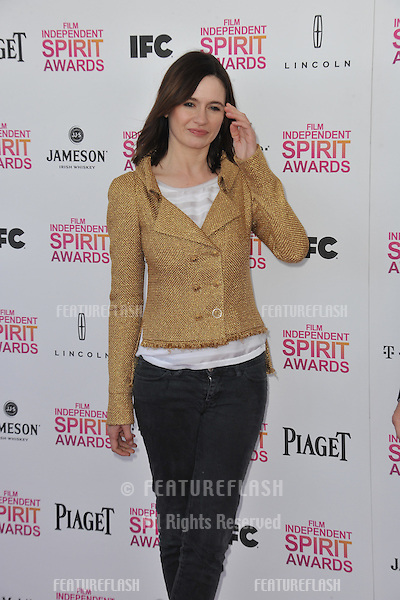 Emily Mortimer at the 2013 Film Independent Spirit Awards on the beach in Santa Monica..February 23, 2013  Santa Monica, CA.Picture: Paul Smith / Featureflash