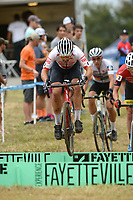 NWA Democrat-Gazette/ANDY SHUPE<br /> Michael Van Dem Ham competes Saturday, Oct. 5, 2019, during the inaugural FayetteCross two-day cyclocross race series on Millsap Mountain at Centennial Park in Fayetteville. Visit nwadg.com/photos to see more photographs from the race.
