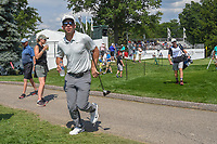 Paul Casey (ENG) heads to 16 during 2nd round of the World Golf Championships - Bridgestone Invitational, at the Firestone Country Club, Akron, Ohio. 8/3/2018.<br />