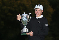 Matthew Fitzpatrick (ENG) wins the Final Round of the British Masters 2015 supported by SkySports played on the Marquess Course at Woburn Golf Club, Little Brickhill, Milton Keynes, England.  11/10/2015. Picture: Golffile | David Lloyd<br /> <br /> All photos usage must carry mandatory copyright credit (&copy; Golffile | David Lloyd)