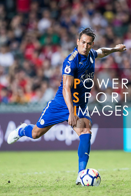 Leicester City FC forward Leonardo Ulloa in action during the Premier League Asia Trophy match between Leicester City FC and West Bromwich Albion at Hong Kong Stadium on 19 July 2017, in Hong Kong, China. Photo by Yu Chun Christopher Wong / Power Sport Images