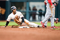 19 April 2007: Giants' Dave Roberts is safe at second base during the San Francisco Giants 6-2 victory over the St. Louis Cardinals at the AT&T stadium in San Francisco, CA.