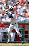 17 June 2006: Derek Jeter, shortstop for the New York Yankees, in action against the Washington Nationals at RFK Stadium, in Washington, DC. The Nationals overcame a seven run deficit to win 11-9 in the second game of the interleague series...Mandatory Photo Credit: Ed Wolfstein Photo...