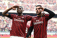 Theo Hernandez of AC Milan celebrates with Rafael Leao of AC Milan after scoring the goal of 2-1 <br /> Milano 19/01/2020 Stadio Giuseppe Meazza <br /> Football Serie A 2019/2020 <br /> AC Milan - Udinese Calcio <br /> Photo Image Sport / Insidefoto