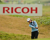 Ai Miyazato plays to the 6th green during the first round play of the  Ricoh Woman's British Open to be played over the Championship Links from 28th to 31st July 2011; Picture Stuart Adams, SAFOTO. www.safoto.co.uk; 28th July 2011